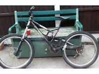 24/7 Dark angel mountain downhill bike
