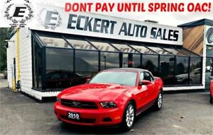 2010 FORD MUSTANG CONVERTIBLE WITH LEATHER