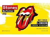 The Rolling Stones - No Filter Tour Standing Tickets London (x2) 25 May | 240 GBP for both