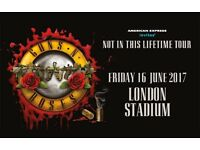 Guns N' Roses Fri 16th June London Olympic Stadium TICKETS x2 on the PITCH