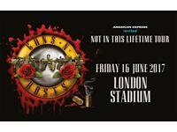 Guns N' Roses Fri 16th June London Olympic Stadium TICKETS x2 on the PITCH