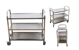 3 Tier Trolley Cart Catering Kitchen Hotel Supermarket Serving Stainless Steel