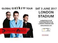 Selling 2 x Depeche Mode Tickets - London Olympic Stadium - 3rd June