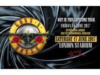 2 x Golden Circle Tickets for Guns N Roses Sat 17th June London