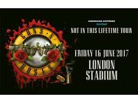 2 x Guns and roses tickets for sale