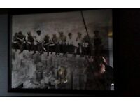 Large Framed 'Construction Workers' Print