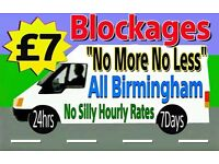 """""""£7"""" NO MORE-NO LESS-(ANY) Household Blocked Toilets & Drains""""ALL BRUM"""" (See list below)""""*Plumbing*"""