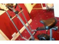 Pro fitness exercise bike and cross trainer