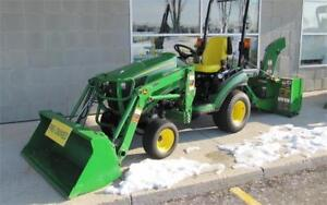 2014 JOHN DEERE 1025R TRACTOR WITH LOADER & SNOW BLOWER