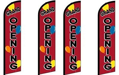 Grand Opening Balloon King Size Windless Flag Pack Of 4 Hardware Not Included