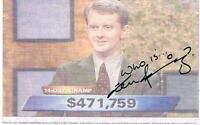 Autog NP Photo Ken Jennings Top Winner On Jeopardy 15 Days