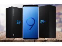NEW Sealed Samsung Galaxy S9 & Plus 256gb 128gb 64gb Midnight Black, Blue, Lilac purple - Unlocked