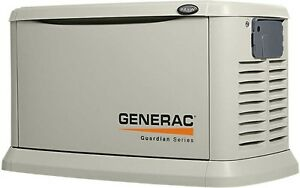 11 kW Air-Cooled Standby Generator with Steel Enclosure (Unit On