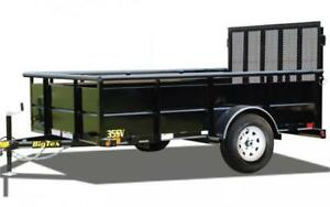 REDUCED! BIG TEX 10' HIGH SIDE UTILITY TRAILER!