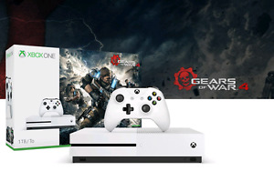 XBOX ONE S 4K 1000GB BLANCHE ÉDITION GEARS OF WARS (NEUF SCELLER