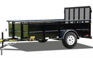 BIG TEX 10' HIGH SIDE UTILITY TRAILER
