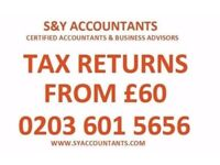 We can beat any quote - Tax Returns, Self Assessment from £60, Bookkeeping, Tax Refund, VAT, Payroll