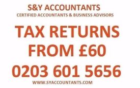 Tax Return/Self Assessment from £60 CIS Rebates,Tax Refund, VAT, Payroll, Accountant, Bookkeeping