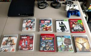 Sony Playstation Playstation 3 PS3 with 9 games and 2 controller