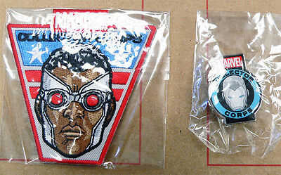 Marvel Collector Corps Exclusive Falcon Patch & Iron Man Pin Set New