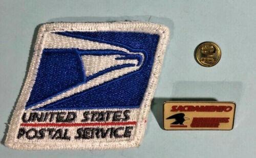 USPS -Sacramento Business Center -Eagle Logo Pin & USPS Patch