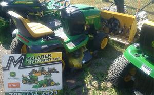 John Deere L130 Lawn Tractor & Blower