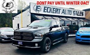 2017 Ram 1500 Sport Quad Cab 4x4 with Nav / Reverse Camera