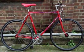 Single speed bike PEUGEOT frame 22inch built BY US NEW TYRES, DICTA 18T, CHAIN, BAR, GRIPS
