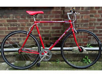 Single speed bike PEUGEOT frame 22inch built BY US NEW TYRES, DICTA 18T, CHAIN, BAR, GRIPS WARRANTY