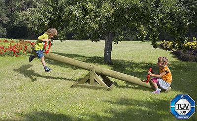 Kinderwippe Wippe Spielgeräte Kinder Palisade Bausatz Kiefer kdi Garten Holz NEU