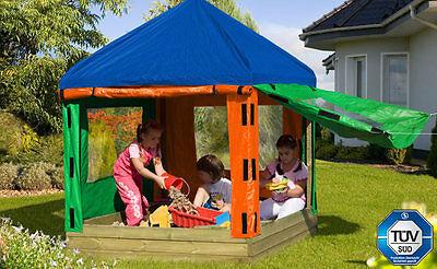 Box Pavillon (Kinderpavillon 153x153cm Sandkasten Sandbox Sandkiste Sand 67030/67031)