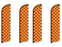 Pack of 10 Checkered King Windless Flag