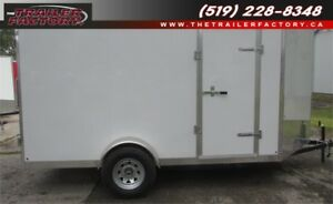 New Cargo Trailer 7'x12' V-Nose White, Financing Available