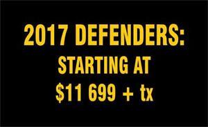2018 Can-Am Defender We've got the Defender for you!