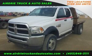 2015 DODGE 5500HD Crew Cab 4x4 Flatbed Truck 12 Feet