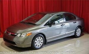 2007 HONDA CIVIC COMME NEUF 87000 KMS GARANTIE 1 AN 12000KMS