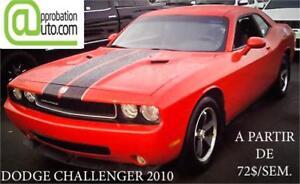 2010 Dodge Challenger, À PARTIR DE 72$/SEMAINE 100% APPROUVÉ