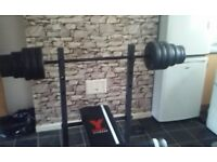 YORK FITNESS WEIGHT BENCH,LIKE NEW WITH 60 KG