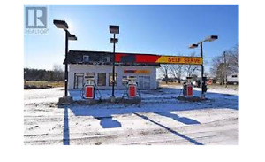 land with gas station stor and garag