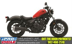 2018 Honda Rebel 500 ABS $38/Week OTR