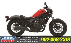 2018 Honda Rebel 500 ABS ONLY $6599