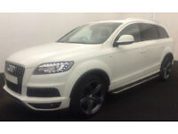 White AUDI Q7 3.0 TDI Diesel QUATTRO S LINE Plus FROM £114 PER WEEK!
