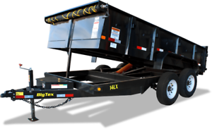 BIG TEX 14' HEAVY DUTY TANDEM AXLE EXTRA WIDE DUMP TRAILER!