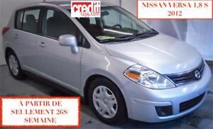 2012 Nissan Versa 1,8 S,À PARTIR DE 26$/SEM. 100% APPROUVÉ !
