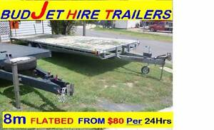 CAR TRAILER HIRE 8 meter  x 2.4m FLAT BED TRAY from $85 per 24hr Rocklea Brisbane South West Preview
