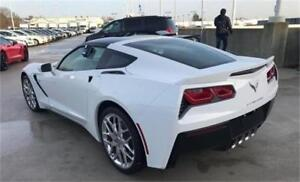 NEW 2017 Chevrolet Corvette Z51 3LT white MANUAL coupe stingray