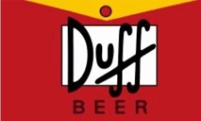 Duff Beer Flag 3X5 The Simpsons Banner Homer Bart Moes Man Cave Garage