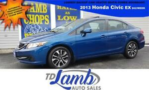 *$62/Week* 2013 Honda Civic Sdn EX LOADED