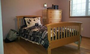 SOLID WOOD Single size bed and Bedroom furniture, Drawer