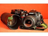 NIKON D7000 with 18-55 lens. 70-300Nikkor lens. Courser bag. Cokin cu lens, polariser and filters